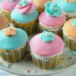 Pillsbury cupcakes with fondant