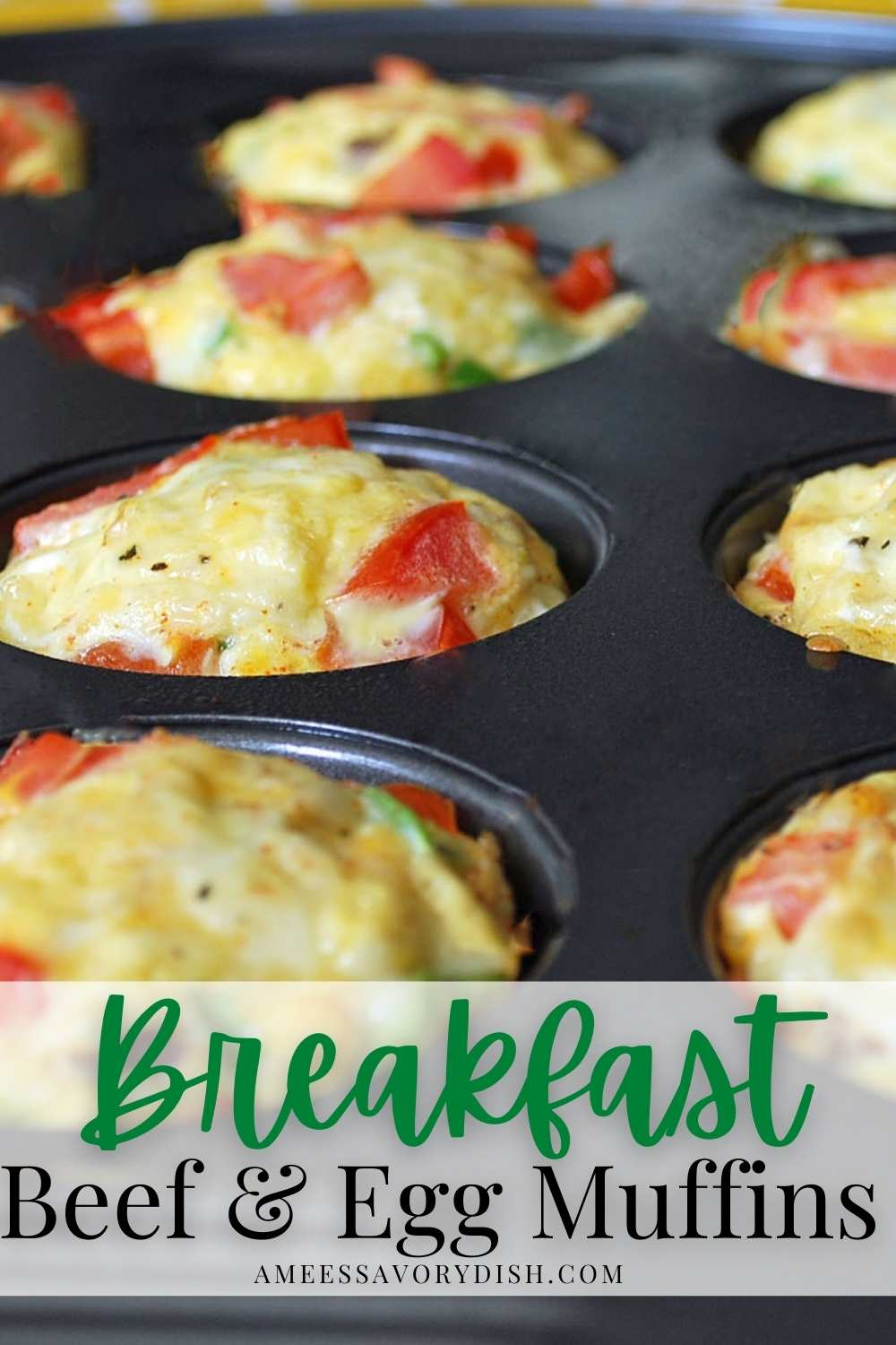 #Sponsored A healthy, protein-packed, recipe for Beef Egg Muffins with a southwestern flair using lean ground beef, eggs, cheese, and spices. #eggmuffins #beefeggmuffins #southwesteggmuffins #easyeggmuffins #mealprepbreakfast via @Ameessavorydish
