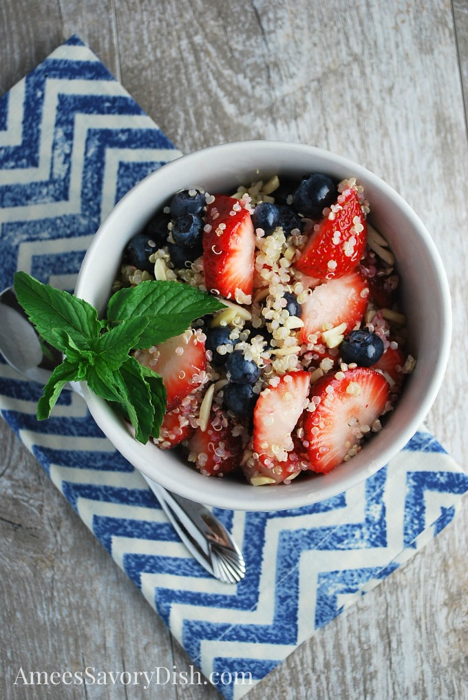 Protein Quinoa Bowl with berries