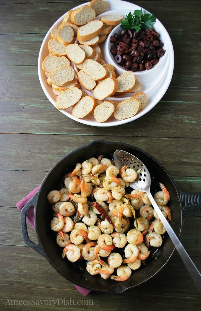 Spanish Style Garlic Shrimp watermark