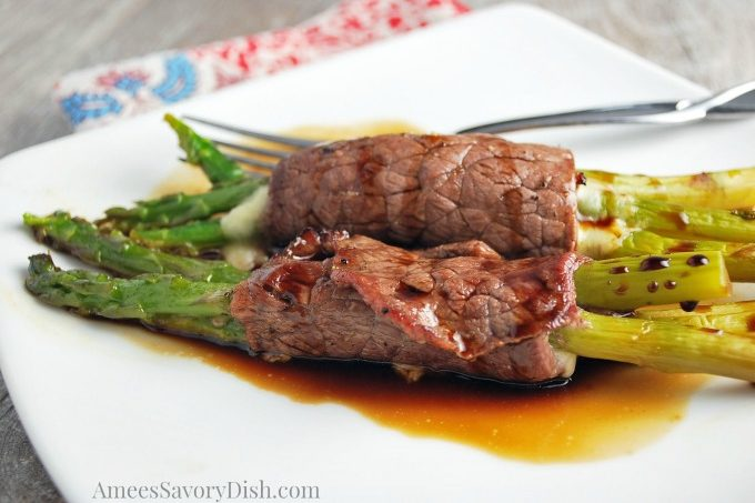 beef and asparagus roll ups