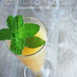 refreshing apple ginger sparkler