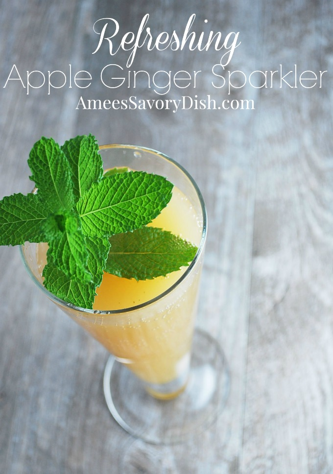 refreshing apple ginger sparkler