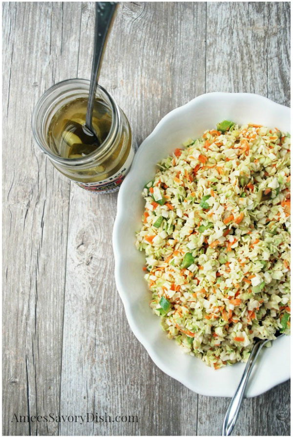 Southern Vinegar Slaw for National Picnic Month