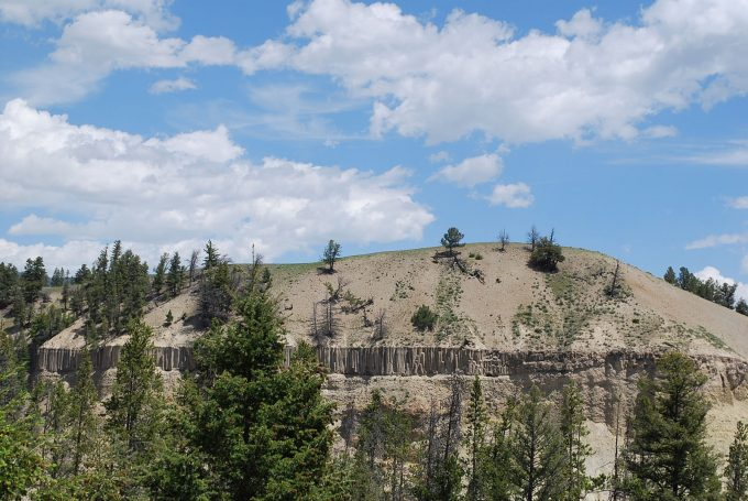 Yellowstone cliff