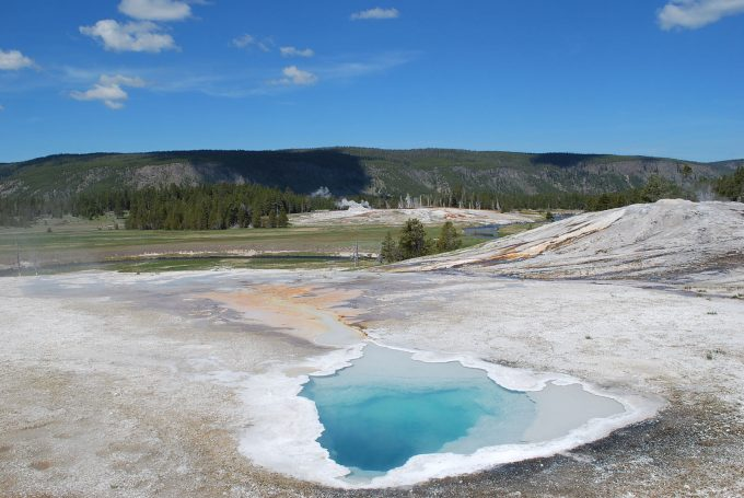 Hot springs near Old Faithful