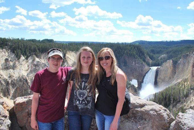 Family pic at Grand Canyon at Yellowstone