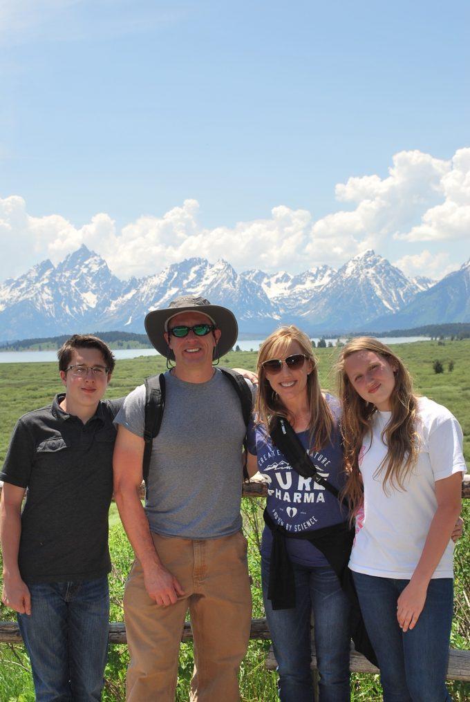 family pic at Jackson Lake Lodge