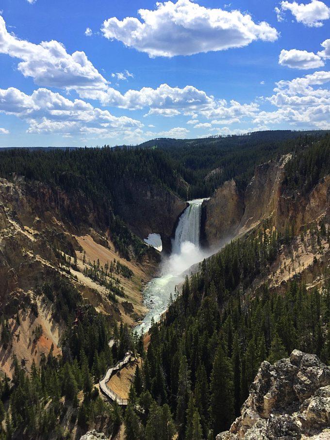 Waterfall at Grand Canyon at Yellowstone