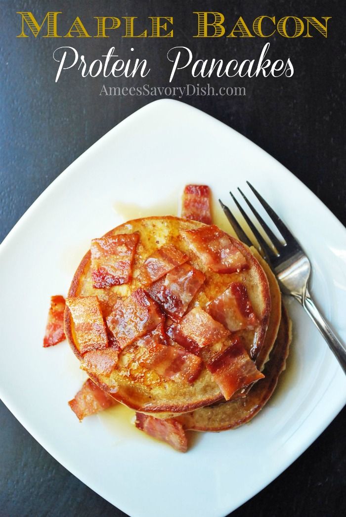Maple Bacon Protein Pancakes #SundaySupper- Amee's Savory Dish