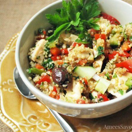 Mediterranean Quinoa Chicken Salad