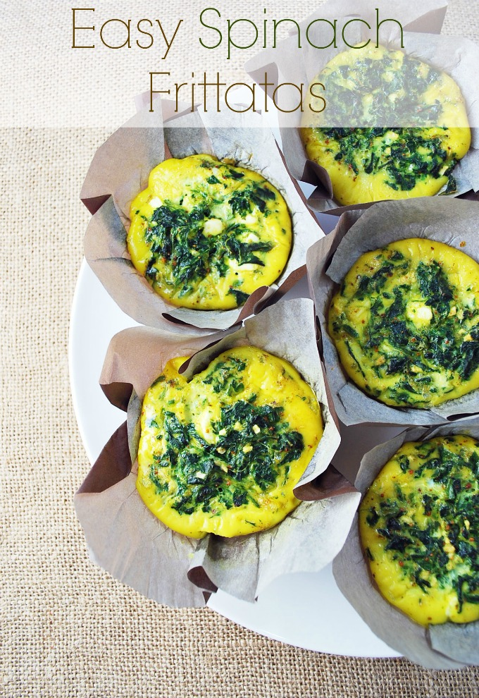 Easy Spinach Frittatas