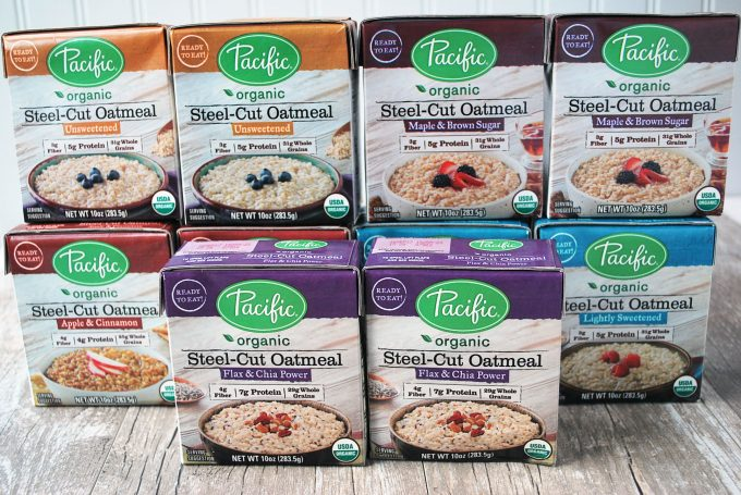 Pacific Foods Oatmeal selection