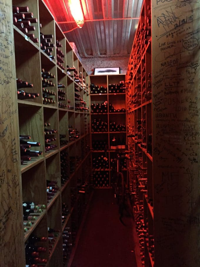 The Little Nell wine cellar tour