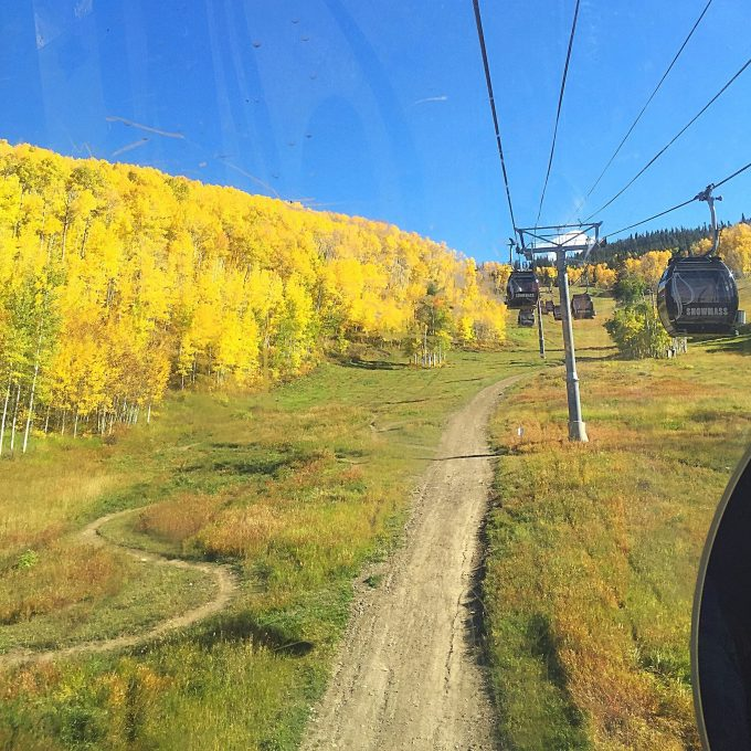 Fall gondola ride at Snowmass