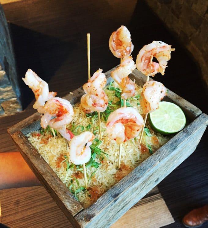 Shrimp appetizer in Aspen