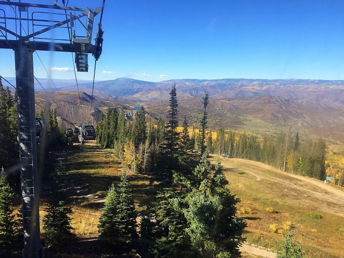 Gondola ride at Snowmass