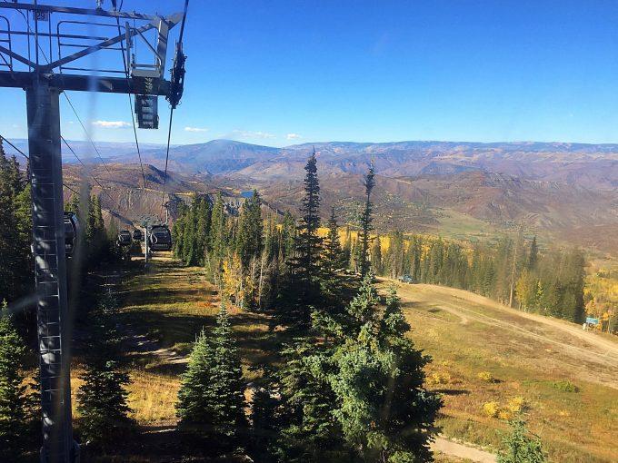 Gondola ride at Snowmass