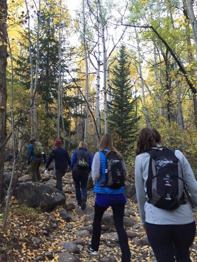 group hike in Aspen