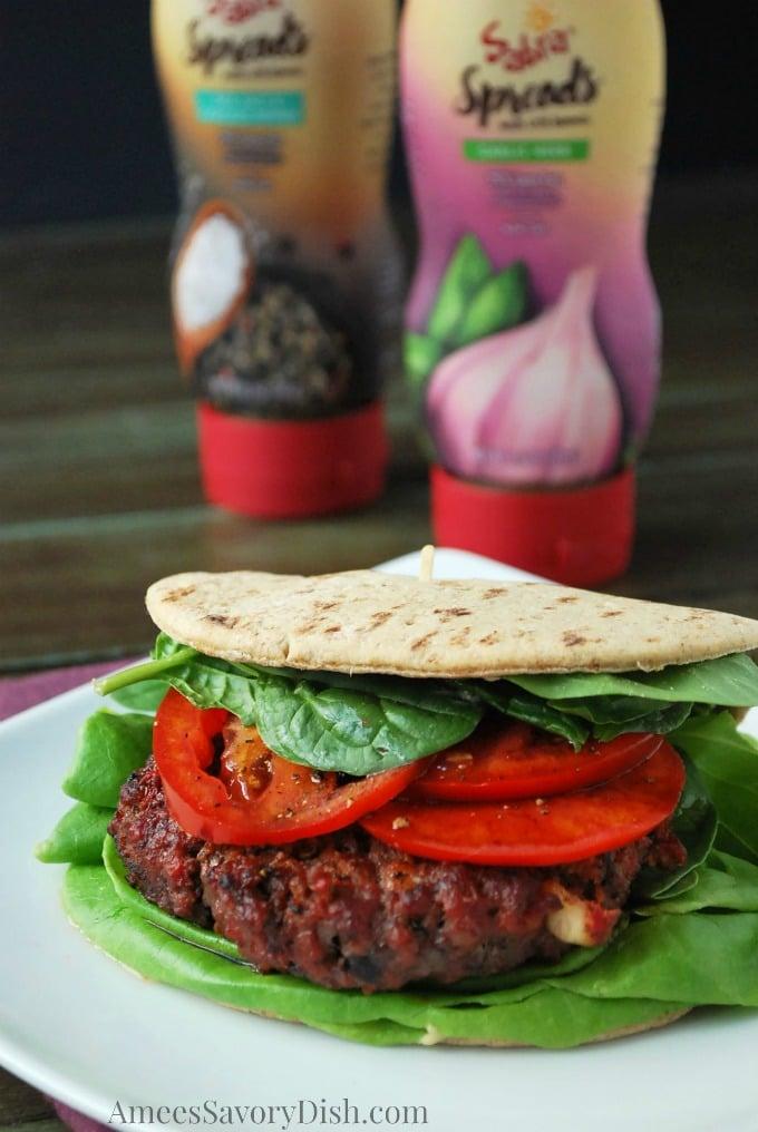Sabra Mediterranean Burger recipe
