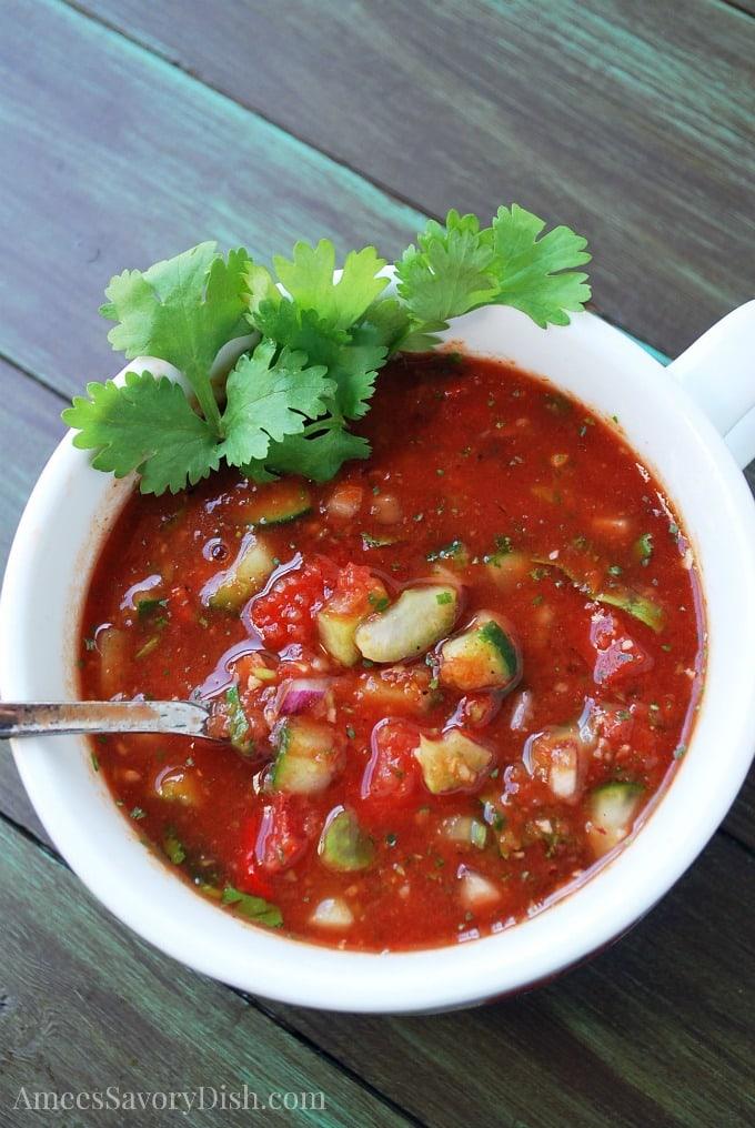 Spicy Gazpacho soup