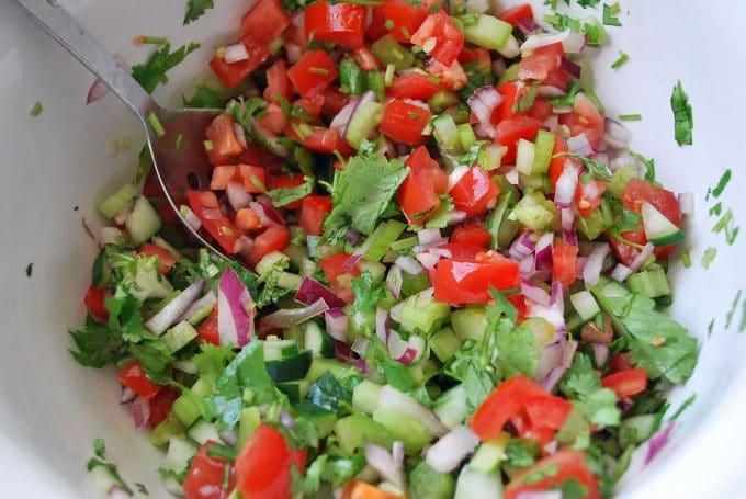 Spicy Gazpacho Veggies