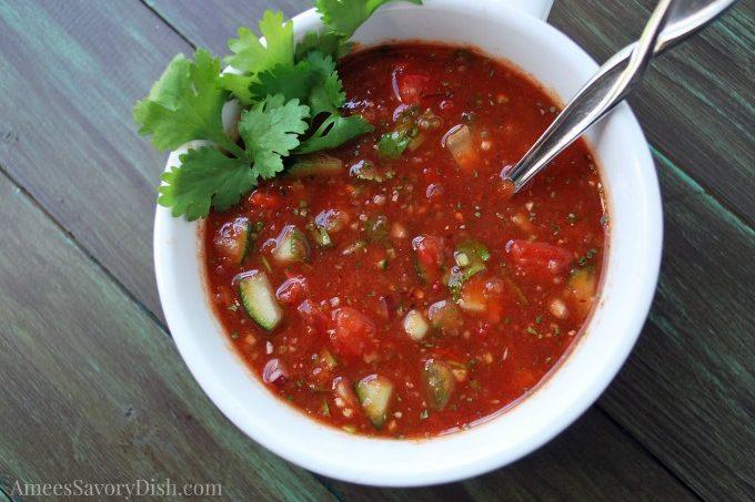 Spicy Sriracha Gazpacho