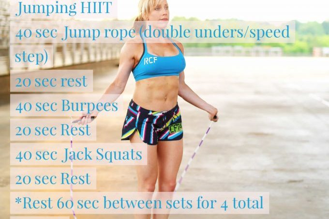 Jumping HIIT workout