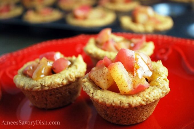 Peanut Butter Apple Tartlets