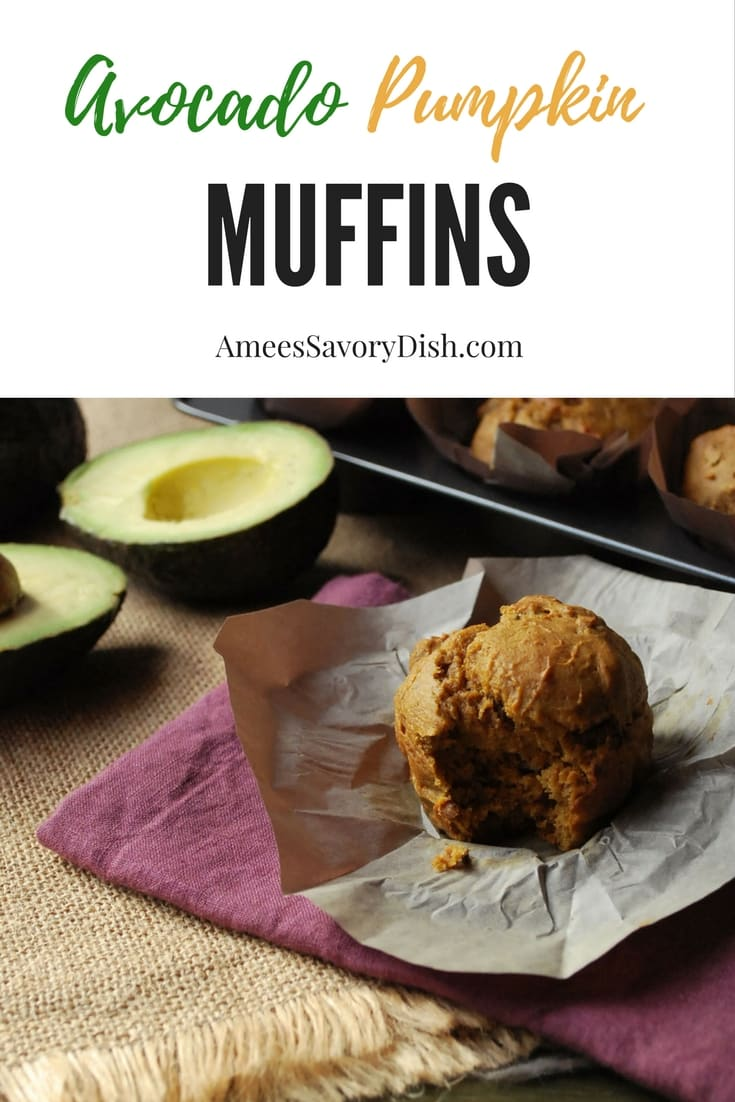 Moist Avocado Pumpkin Muffins