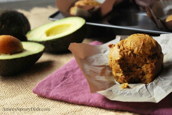 Avocado Pumpkin Muffins recipe