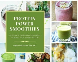 Smoothie photo collage for an ebook