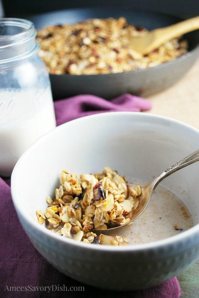 Skillet Fruit and Nut Granola cereal