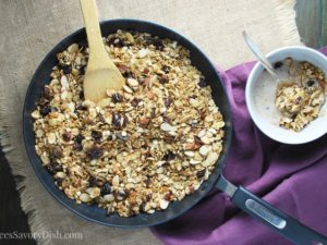 Skillet Fruit and Nut Granola
