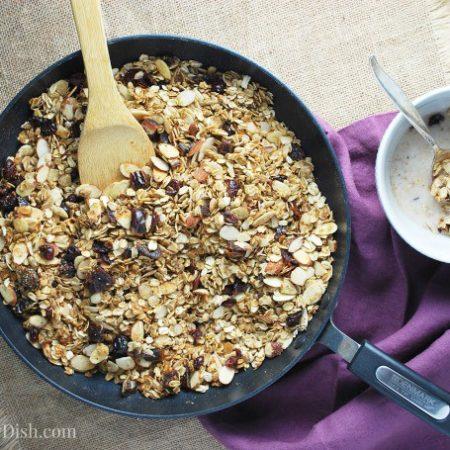 Skillet Fruit and Nut Granola
