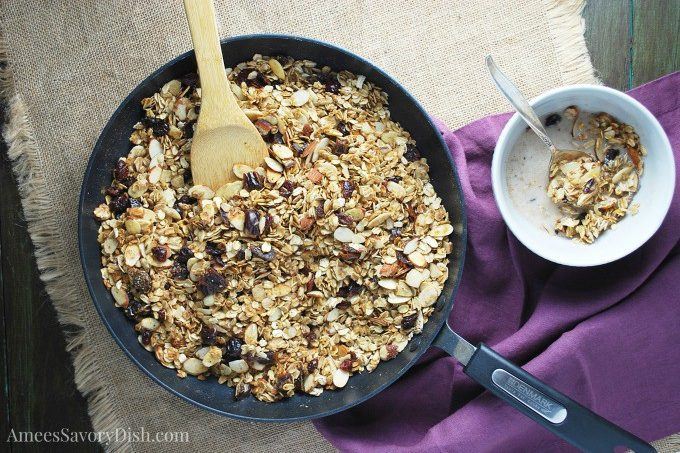 Skillet Fruit & Nut Granola