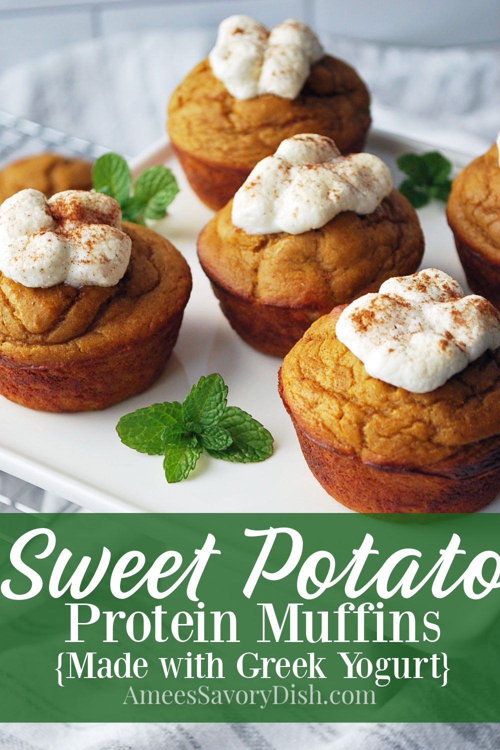 A high-protein, gluten-free sweet potato muffin recipe that turns out fluffy and moist with no compromise in taste or texture. The best part of this recipe is that the batter is whipped up in a blender in less than 5 minutes!#sweetpotatomuffins #proteinmuffins #muffinsrecipe #healthymuffins via @Ameessavorydish