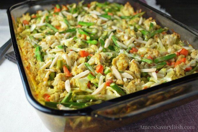 Healthier Chicken Vegetable Casserole
