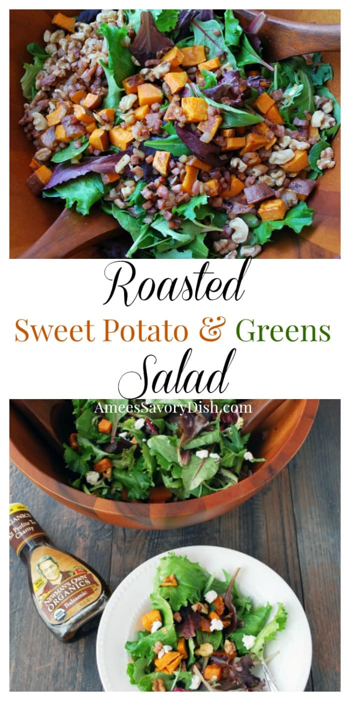 Roasted Sweet Potato and Greens Salad