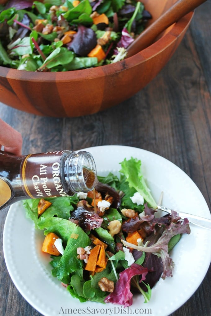 roasted sweet potato salad with balsamic vinaigrette