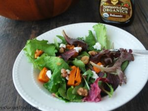 Sweet potato greens salad bowl