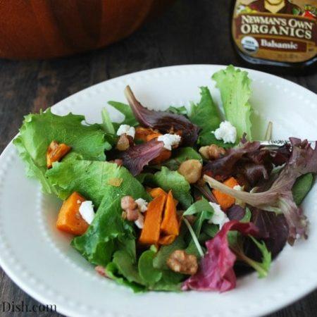 Sweet potato greens salad bowl