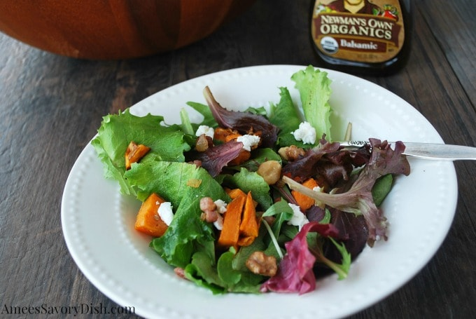 Sweet Potato and Greens Salad bowl