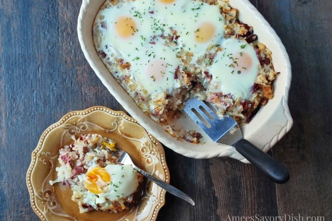Corned Beef Hash Breakfast Casserole #TheRecipeReDux