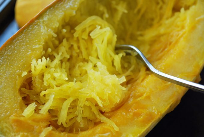 Shredded squash for spaghetti meatball casserole