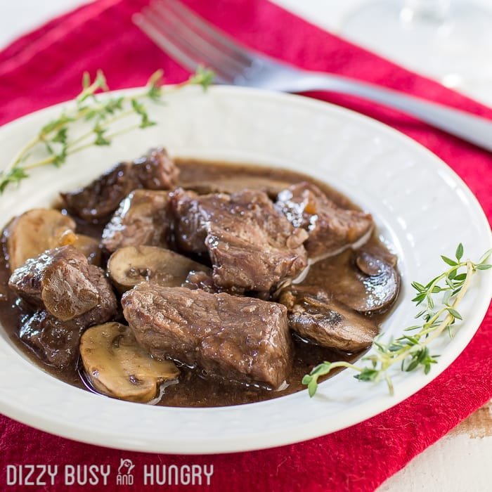 Crockpot Beef and Mushrooms