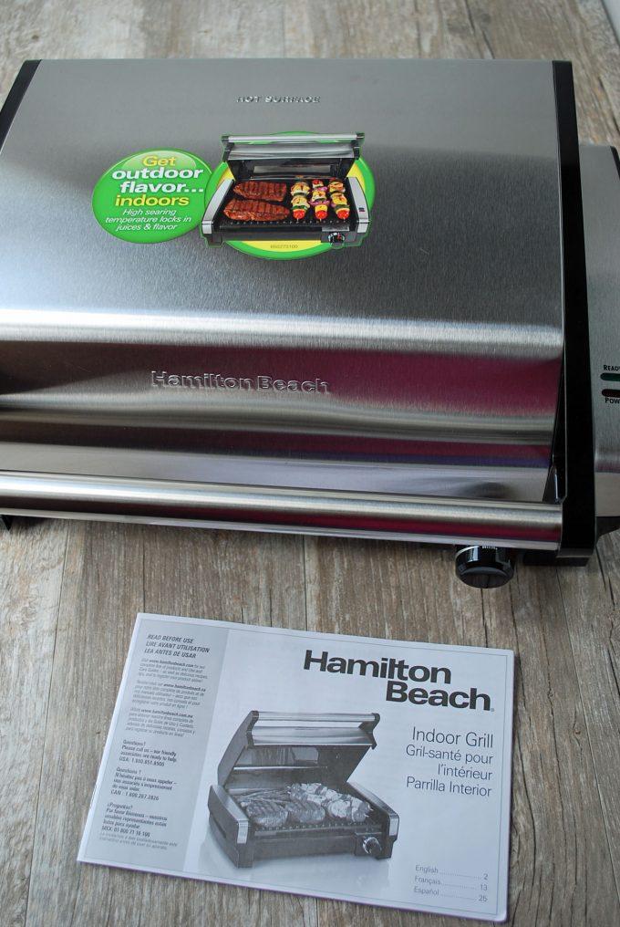 Photo of Hamilton Beach grill with manual