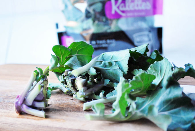 chopped kalettes for kale superfood salad