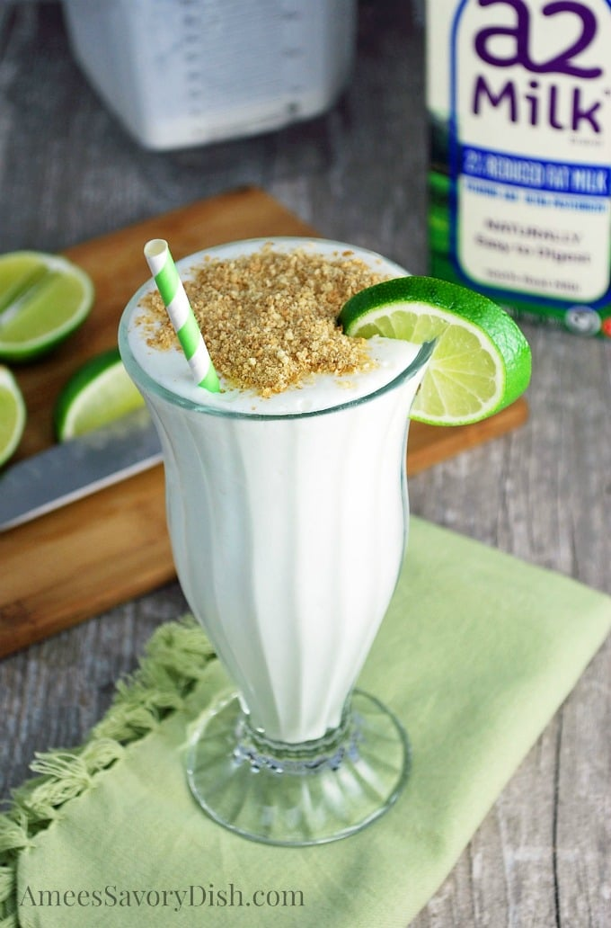 Key Lime Pie Smoothie with a2 milk