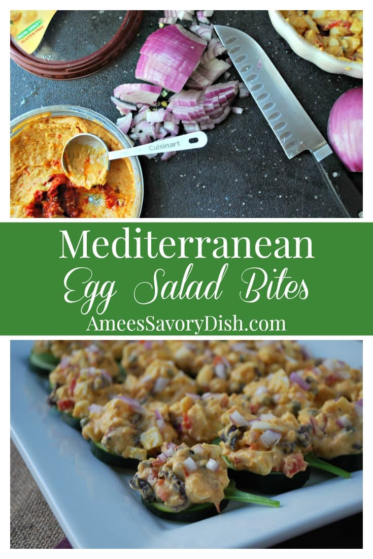 Mediterranean Egg Salad Bites recipe